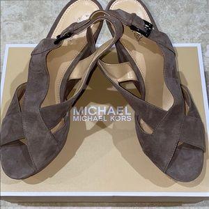Michael Kors Becky wedges: Size 9.5